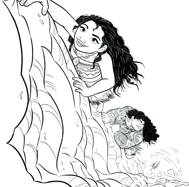 608x601 Moana Coloring Pages And Coloring Pages Moana Coloring Pages Free