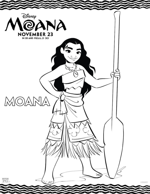 958x1240 Disney's Moana Coloring Pages Activity Sheet Printables Moana