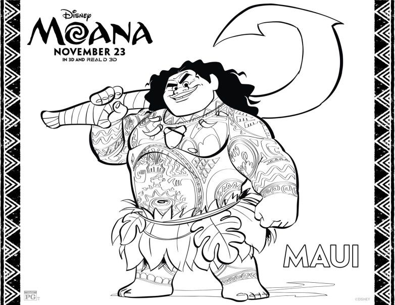 Moana Free Coloring Pages At Getdrawings Free Download