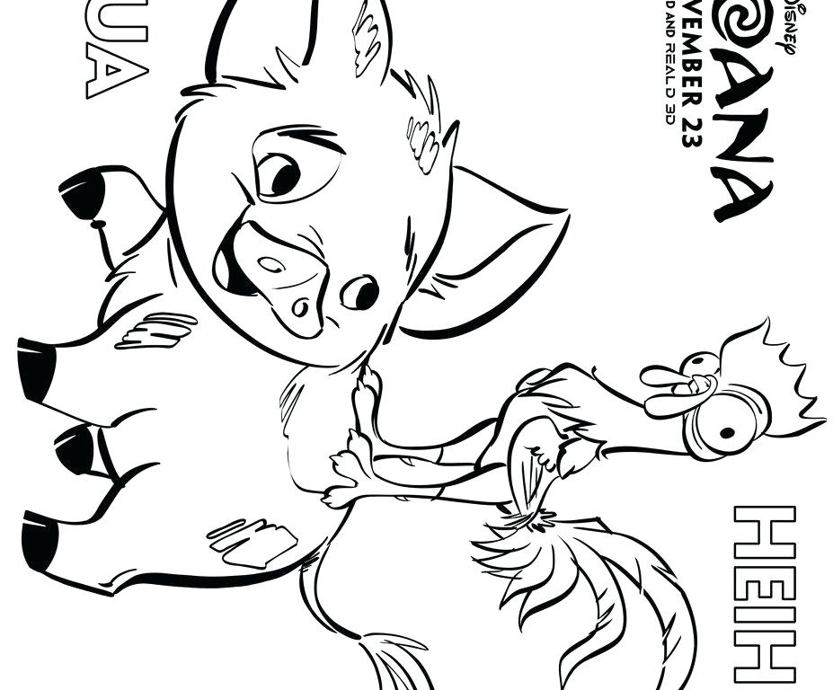 927x768 Moana Coloring Pages Printable Also Pet Pig From Kitchenaid Mixer