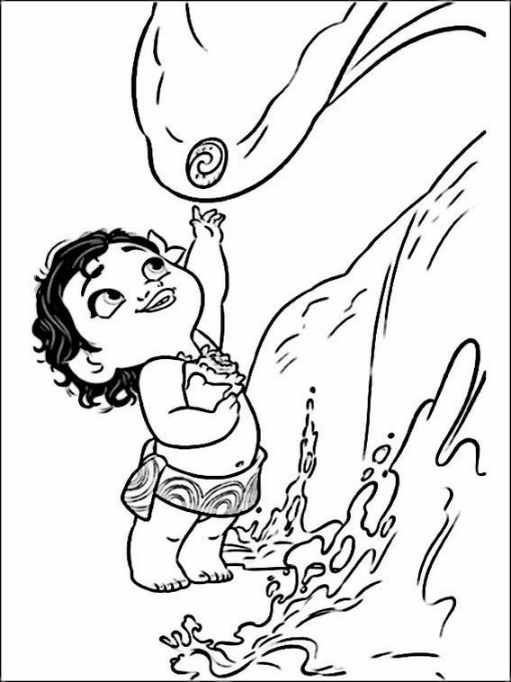 Moana Maui Coloring Pages At Getdrawingscom Free For Personal Use