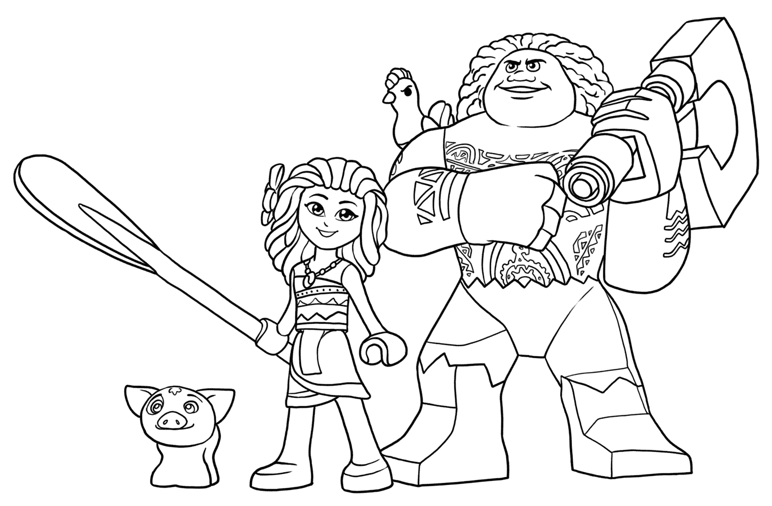 Moana Movie Coloring Pages At GetDrawings
