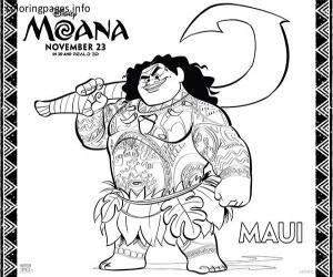 300x250 Moana Coloring Pages Maui Moana Printables Moana