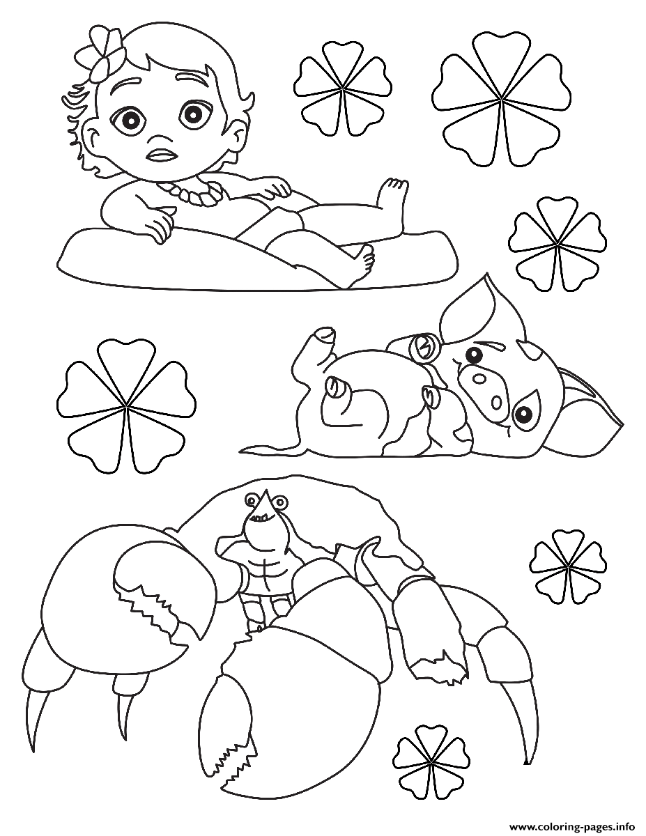 image relating to Printable Coloring Pages Moana referred to as Moana Printable Coloring Internet pages at  No cost for