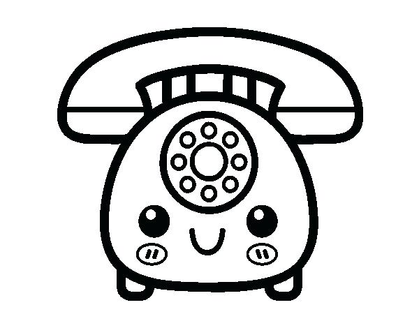 600x470 Phone Coloring Pages Retro Phone Coloring Page My Little Phone