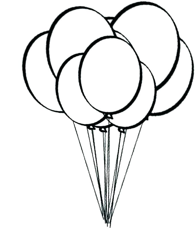 678x874 Birthday Balloon Template Printable Coloring Pages Of Balloons Hot