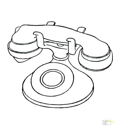 466x506 Cell Phone Coloring Pages Phone Coloring Pages Phone Coloring