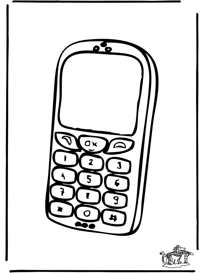 660x880 Enchanting Cell Phone Coloring Pages Pattern