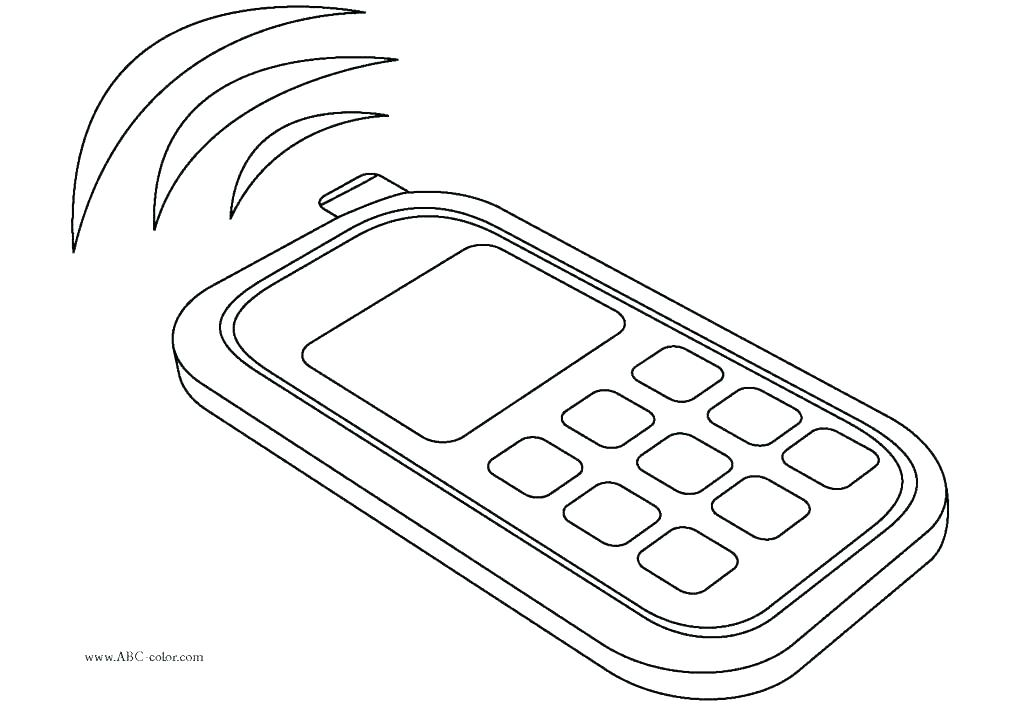 1024x706 Phone Coloring Page Phone Coloring Pages Phone Coloring Pages