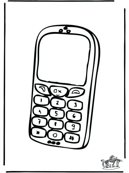 449x600 Phone Coloring Page Phone Coloring Pages Phone Coloring Page