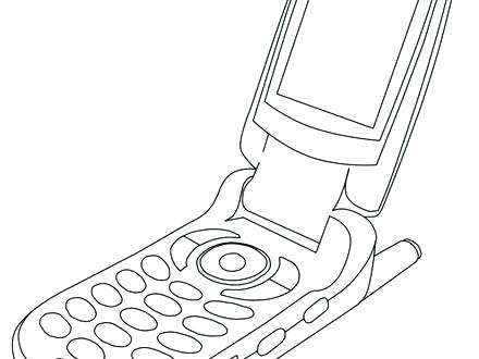 440x330 Cell Phone Coloring Page Cell Phone Detector Coloring Pages Kids