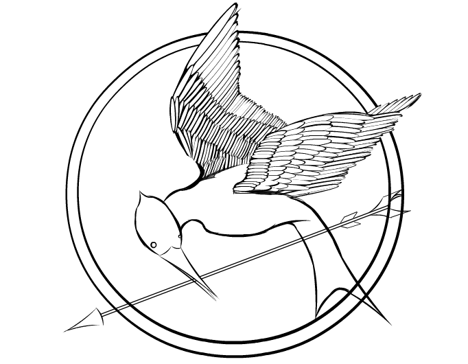 682x530 Hunger Games Mockingjay Coloring Page