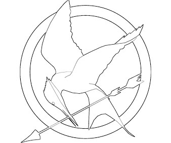 338x282 Hunger Mockingjay Coloring Pages