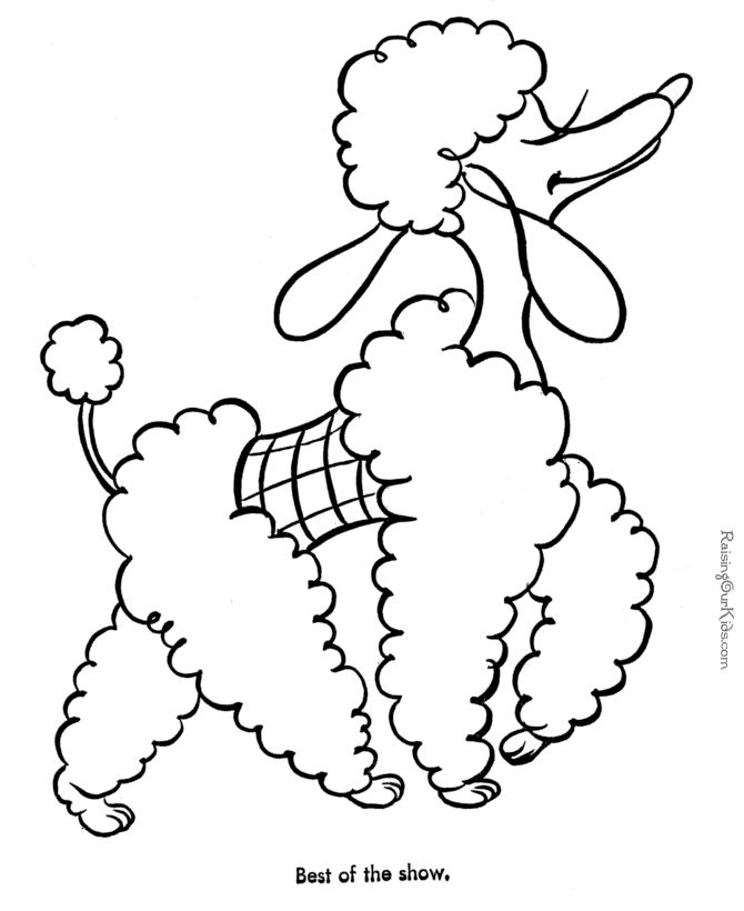 670x820 Poodle Skirt Coloring Page