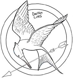 236x253 The Hunger Games Coloring Pages For Kids Embroidery Patterns