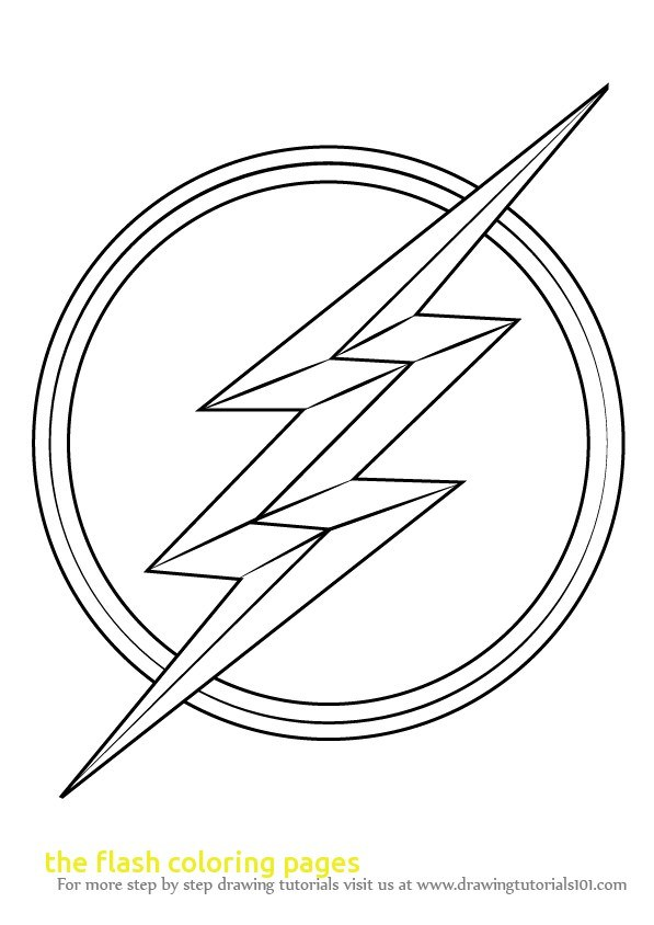 597x844 Flash Symbol Coloring Page
