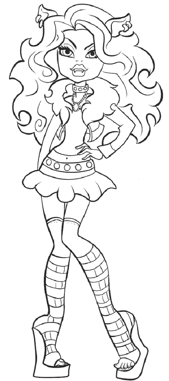 542x1218 Clawdeen Wolf Is Photo Model Coloring Pages