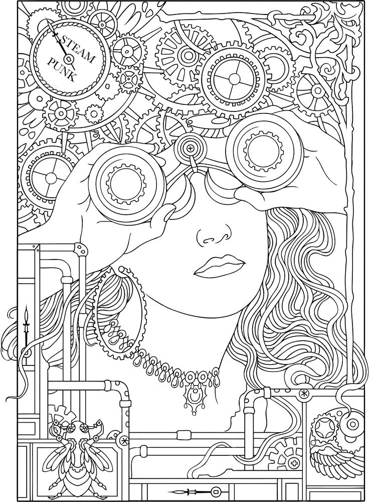 752x1000 Book Coloring For Adults