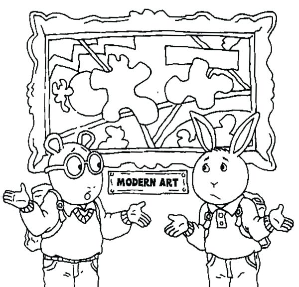 600x576 Art Coloring Page And Buster Understand The Modern Art Coloring