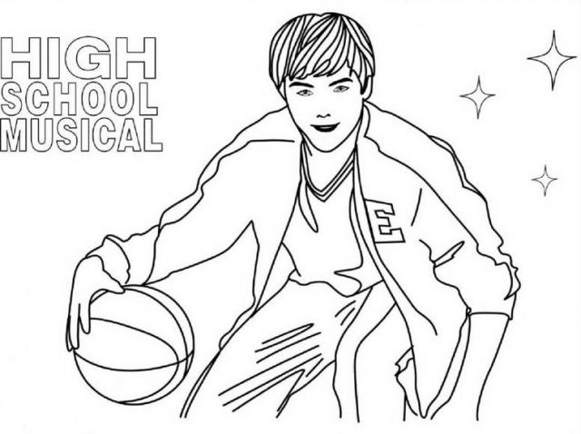 640x478 High School Musical Colouring Pages Modern High School Musical