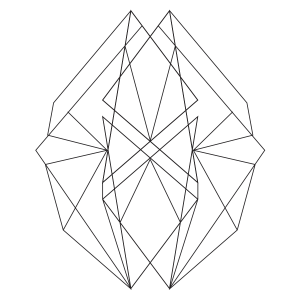 300x300 Abstract Geometric Coloring Page