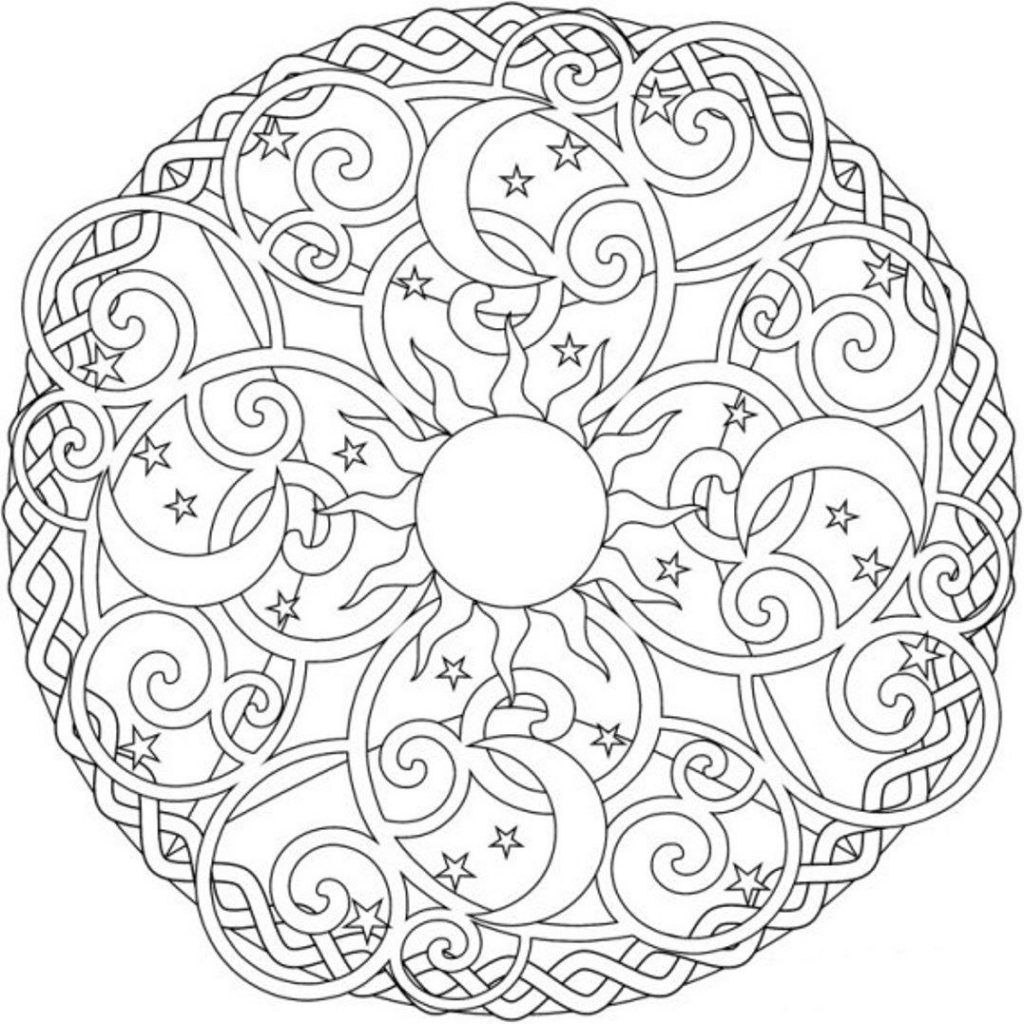 1024x1024 Modern Art Mandala Coloring Book And Drawing Excellent Pages Free
