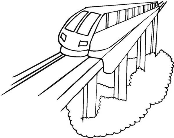 600x476 Modern Train Coloring Page Color Luna