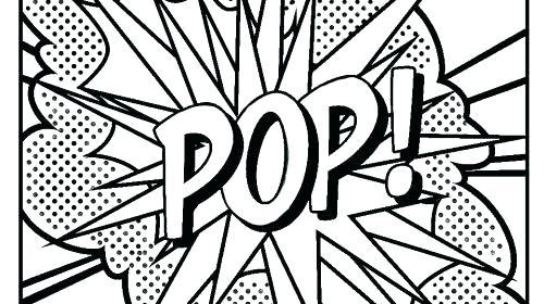 500x280 Art Coloring Pages Pop Art Coloring Sheets Pop Art Coloring Pages