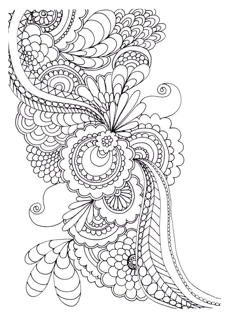 736x1017 Adult Coloring Pages Flowers Modern Download
