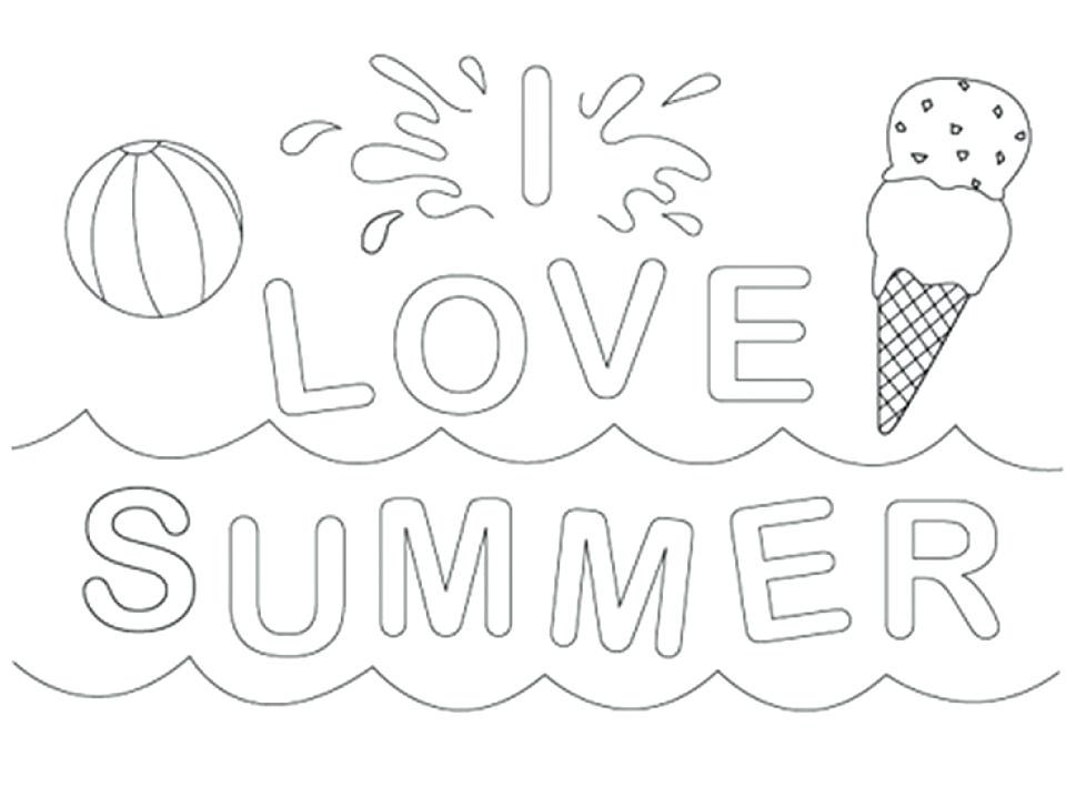 960x727 Summer Coloring Sheets Kids Summer Coloring Pages Modern Ideas