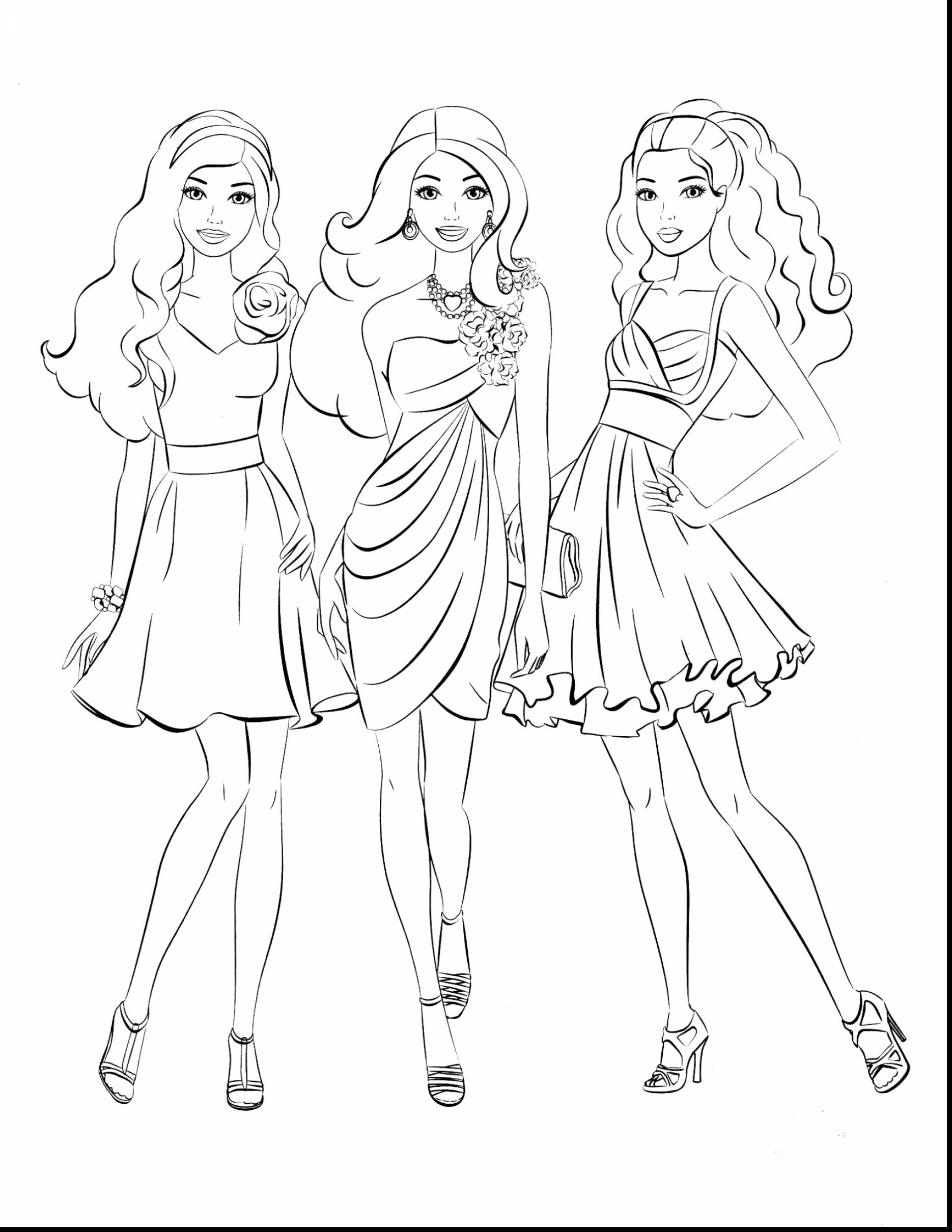 1870x2420 Barbie Coloring Page Cool Barbie Princess Coloring Pages Modern