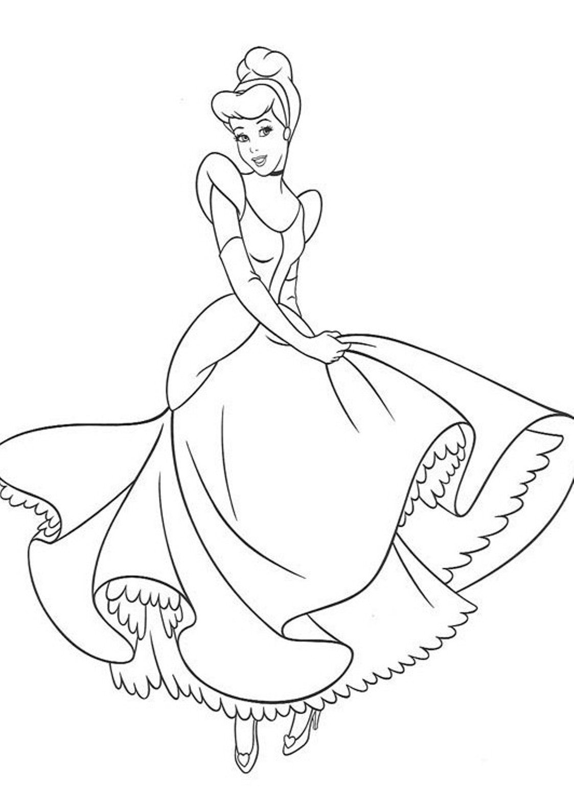1123x1549 Cinderalla Coloring Pages