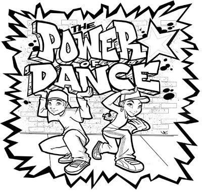 400x380 Powerofdance Hip Hop Dance Coloring Pages Dance Camp