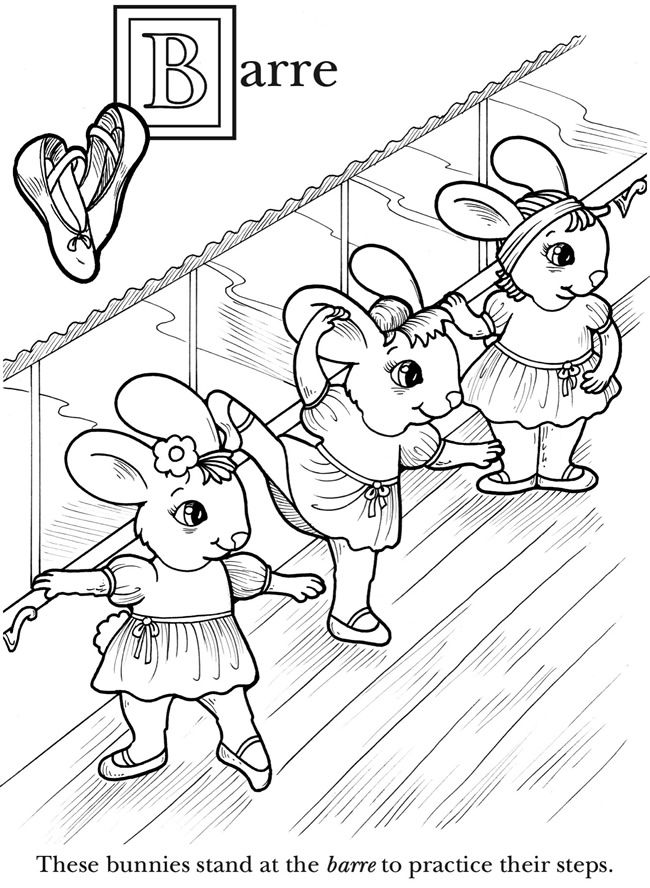 650x888 The Animal Babies Abc Book Of Ballet Dover Publications Coloring