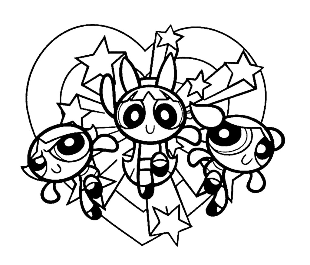 1024x876 Power Puff Girls Coloring Page