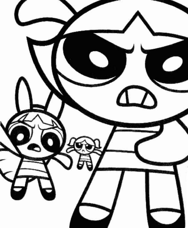600x728 The Powerpuff Girls Are Angry Coloring Page Color Luna