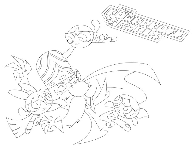 640x494 Girls Vs Mojo Jojo Coloring Page
