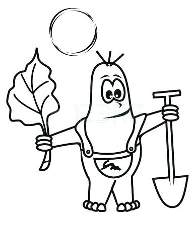 387x450 Mole Coloring Page Mole Digging Ground Coloring Pages Mole