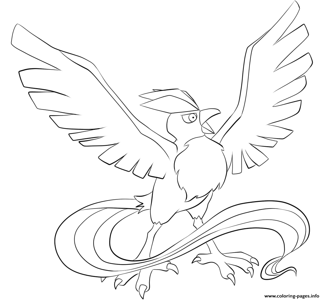 Moltres Coloring Page