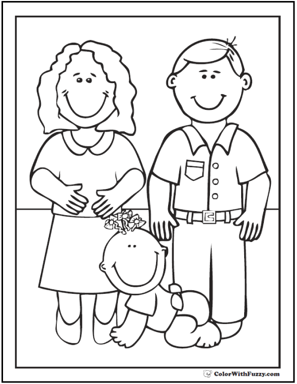 Mom And Baby Coloring Pages