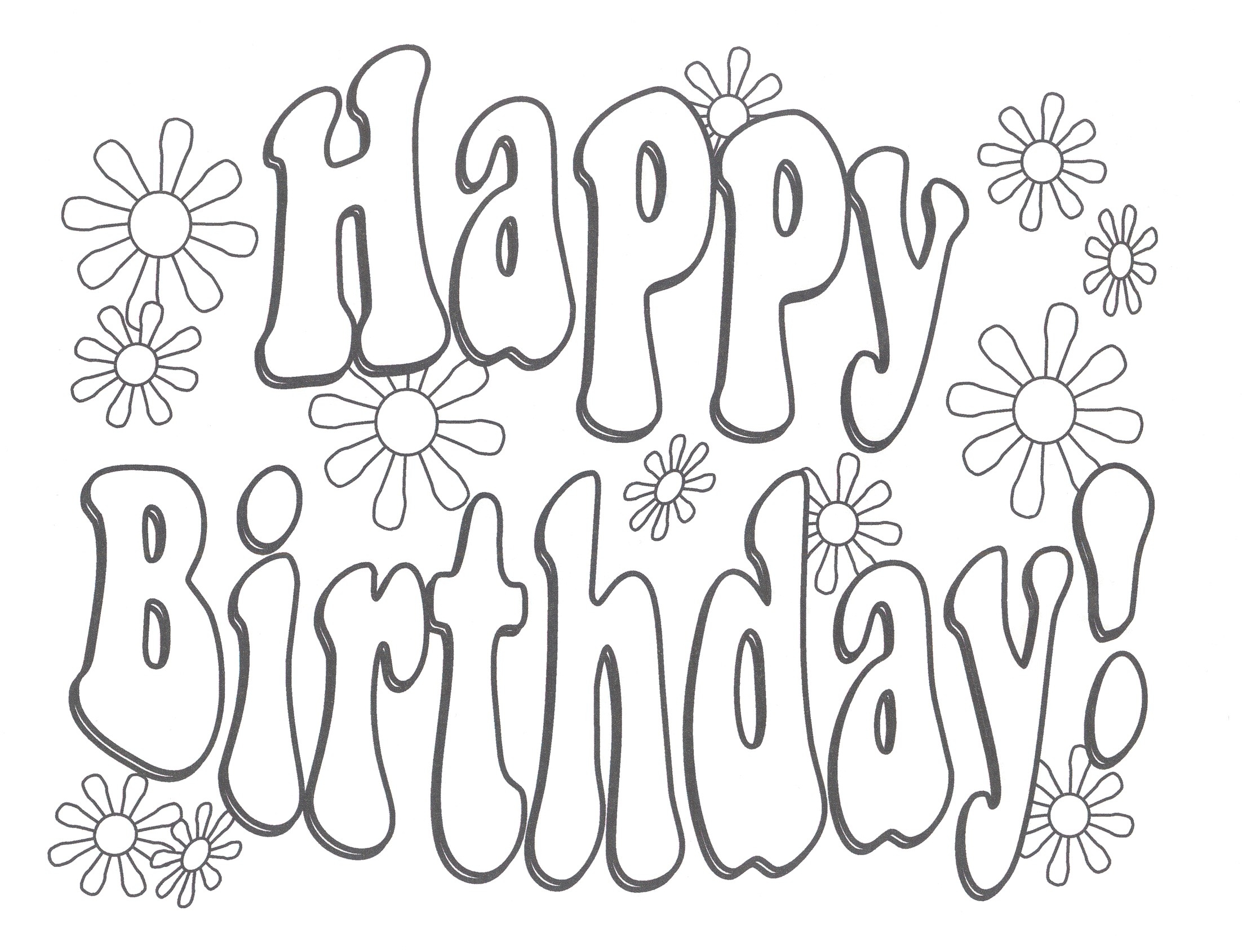 2204x1690 Coloring Pages For Moms And Dads Fresh Happy Birthday Color Pages