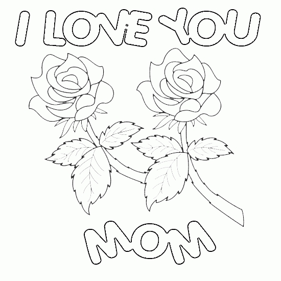 550x550 Happy Valentines Day Mom Coloring Pages Printable