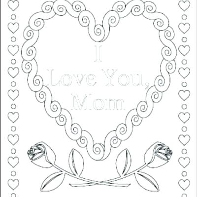 400x400 I Love Mom Coloring Pages Printable I Love You Pictures To Color I