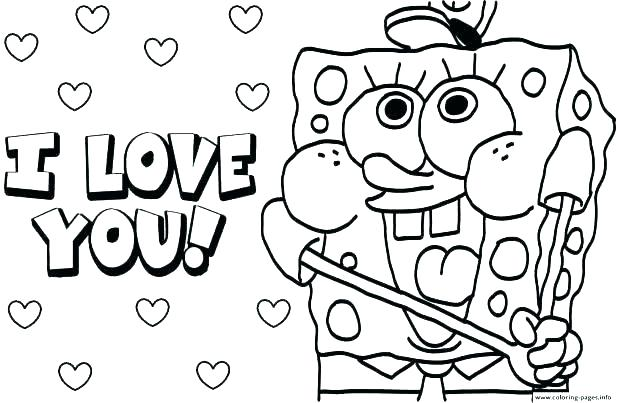 618x403 I Love You Mom Coloring Pages Printable To Print Free Happy