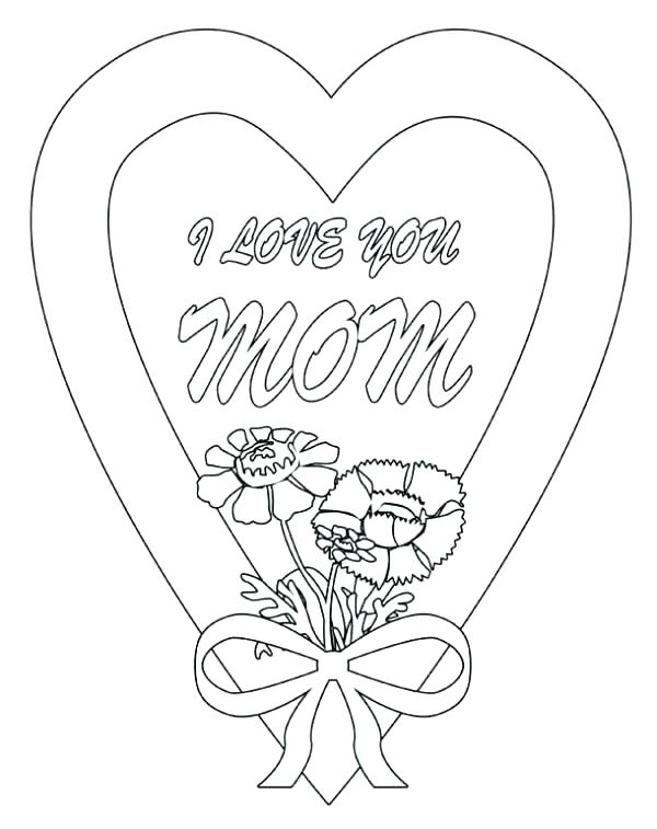 600x757 Kids Coloring Pages Printable I Love Mom Coloring Pages Printable