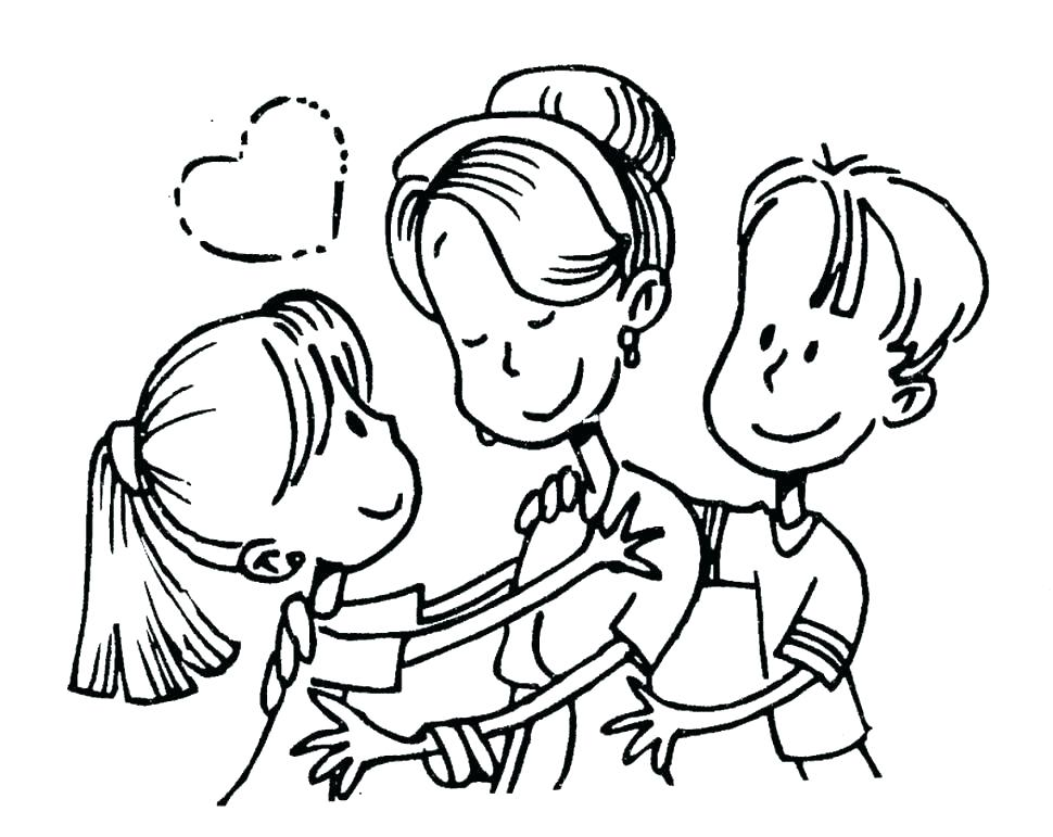 970x771 Mother Coloring Pages Print Jgheraghty Site