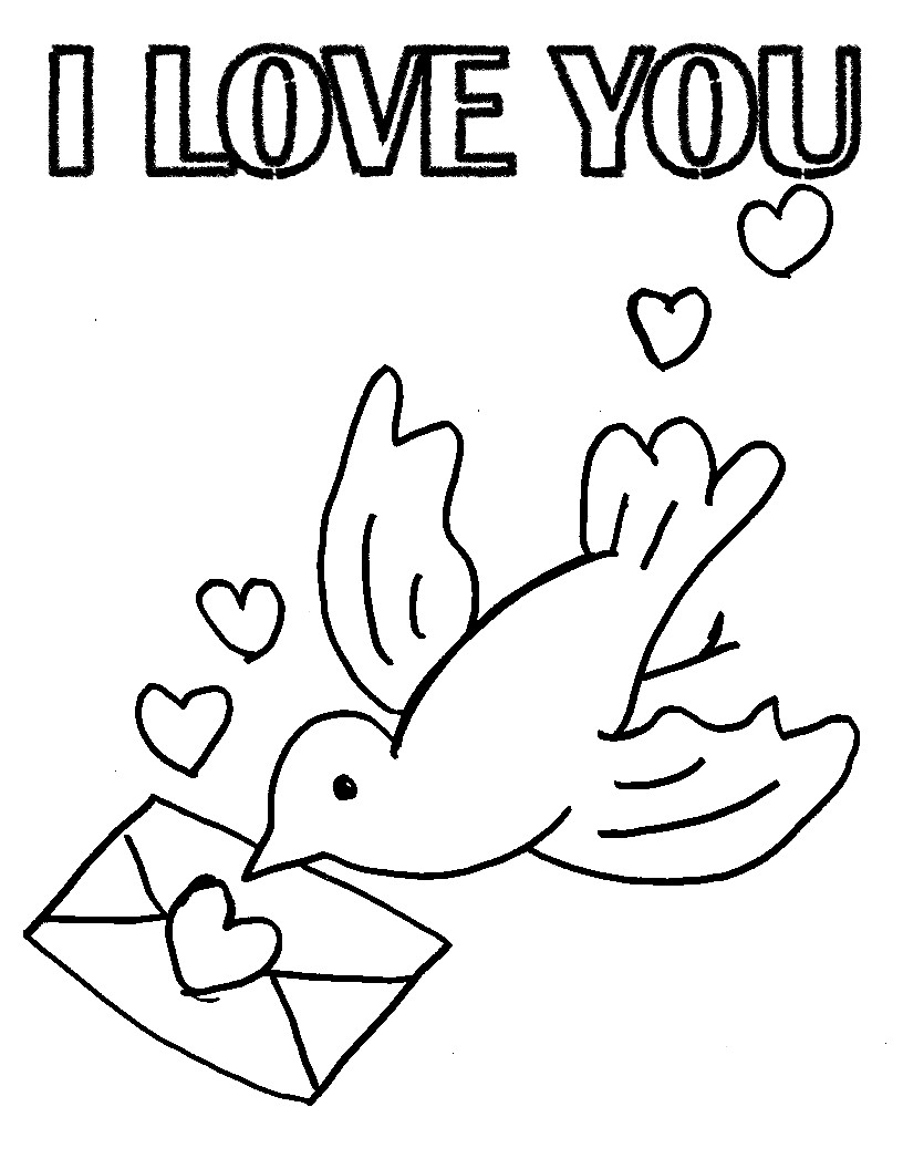 816x1056 I Love You Mommy And Daddy Coloring Pages New Inside