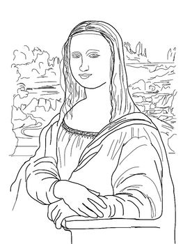 263x350 Mona Lisa Coloring Page Coloring Pages