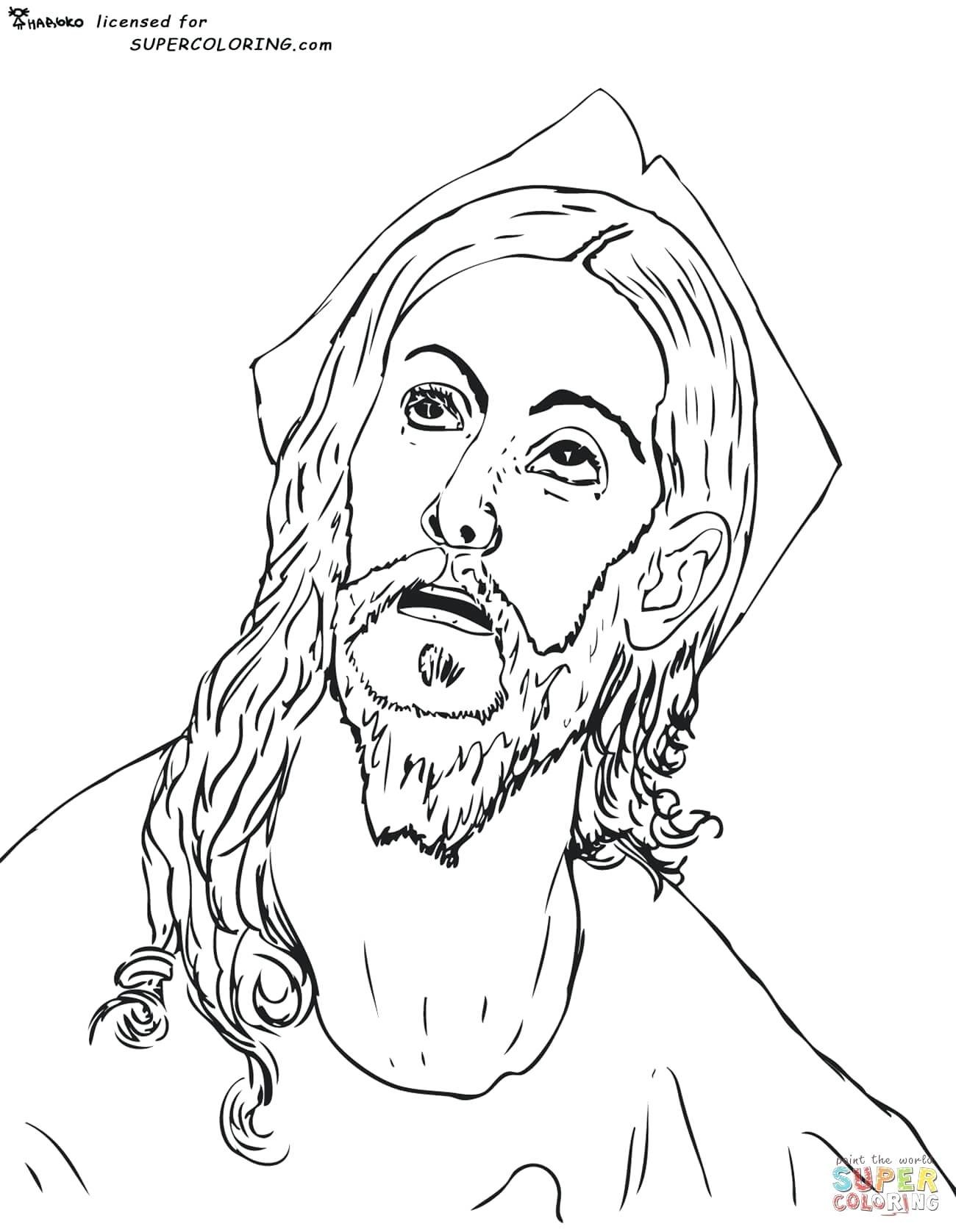 1300x1677 Mona Lisa Coloring Page Head