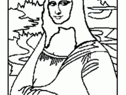 440x330 Mona Lisa Coloring Page, Free Coloring Pages Of Leonardo